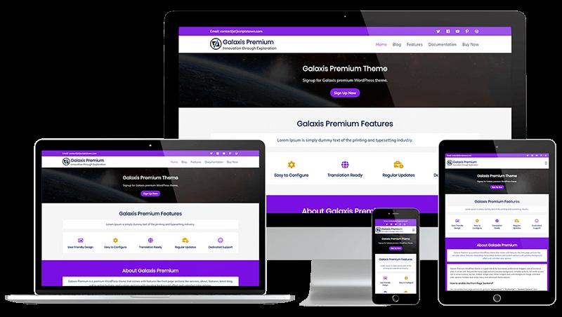 Galaxis Premium - WordPress Theme