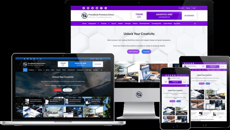 PressBook Premium - WordPress Theme