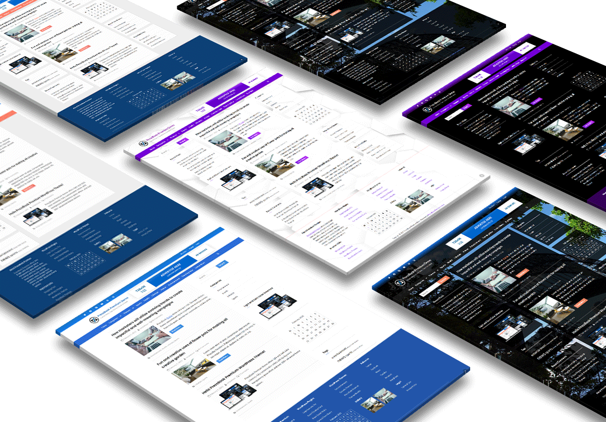 Dark / Light Multi-purpose WordPress theme – PressBook Premium
