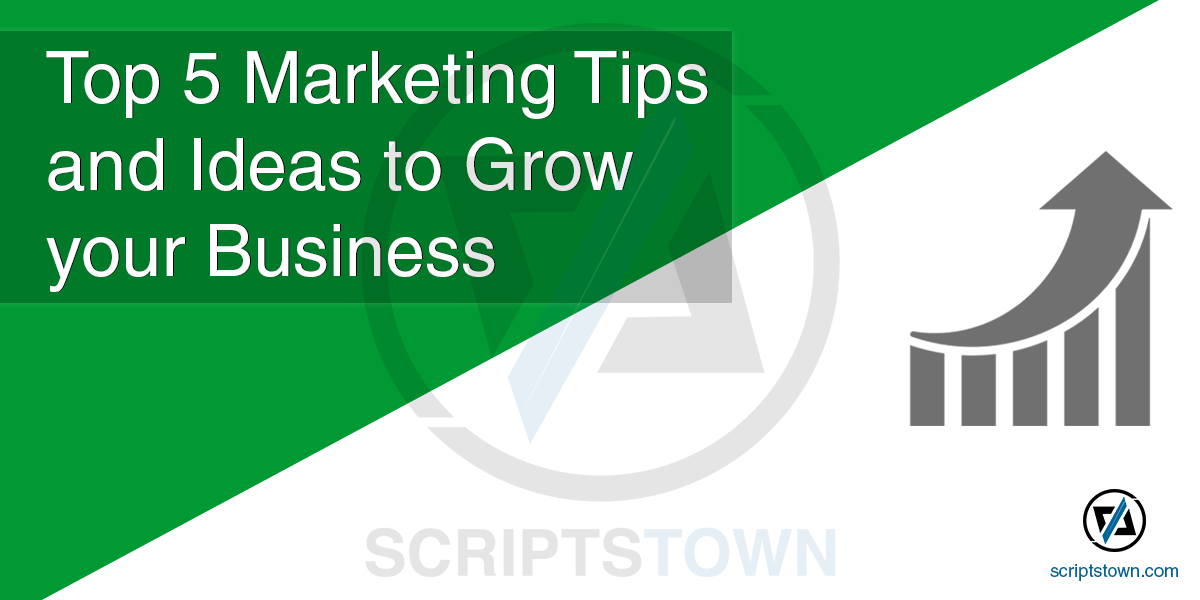 Top 5 Marketing Tips and Ideas to Grow your Business