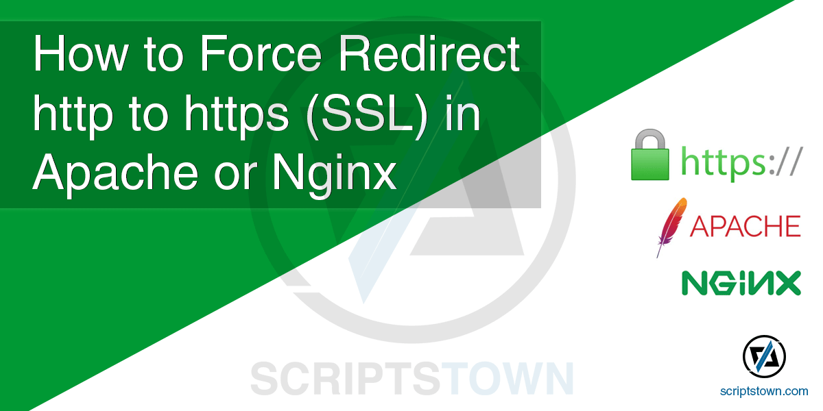 How to Redirect http to https (SSL) in Apache or Nginx Server