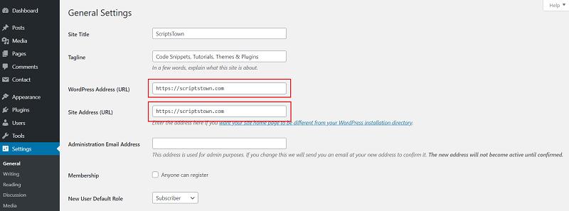 Website URL www vs non-www