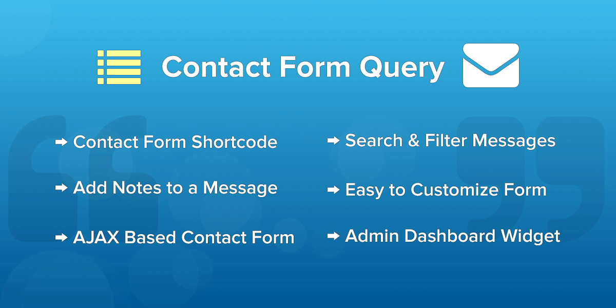 Contact Form Query - WordPress Plugin