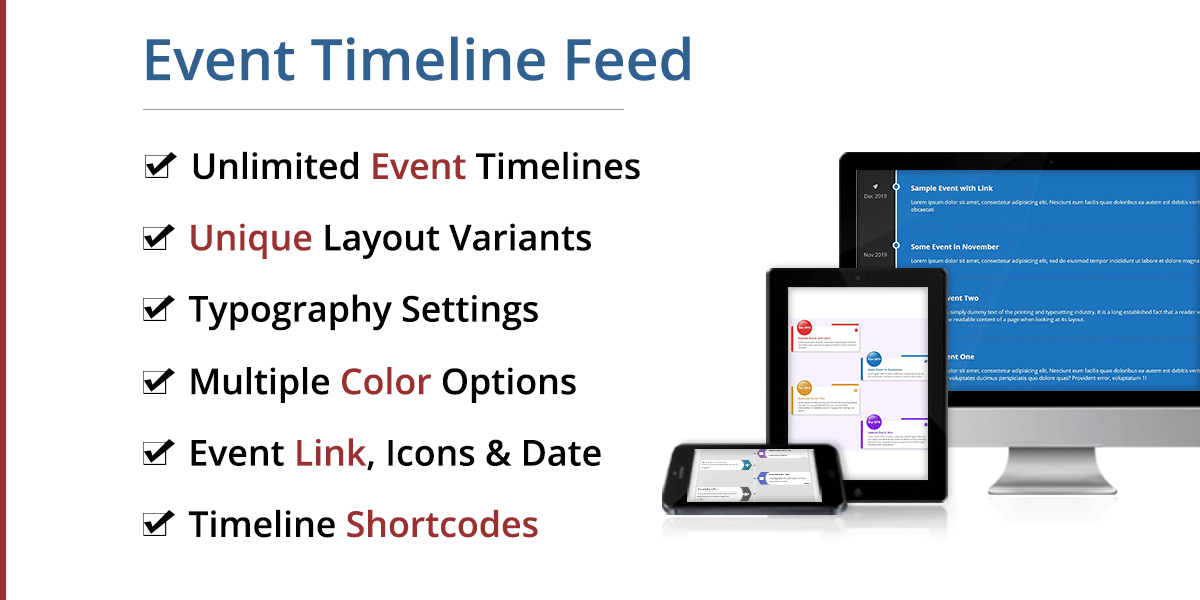 Event Timeline Feed - WordPress Plugin