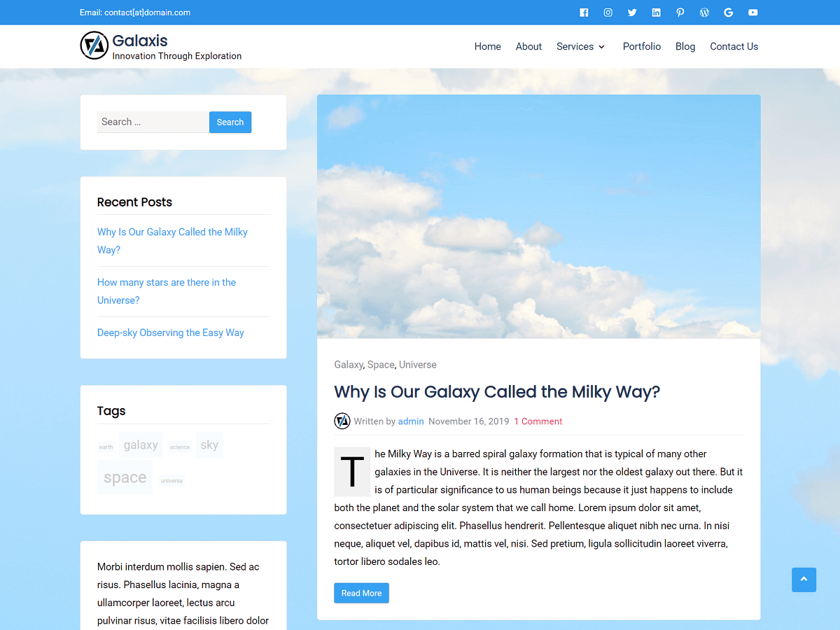 Galaxis - WordPress Theme