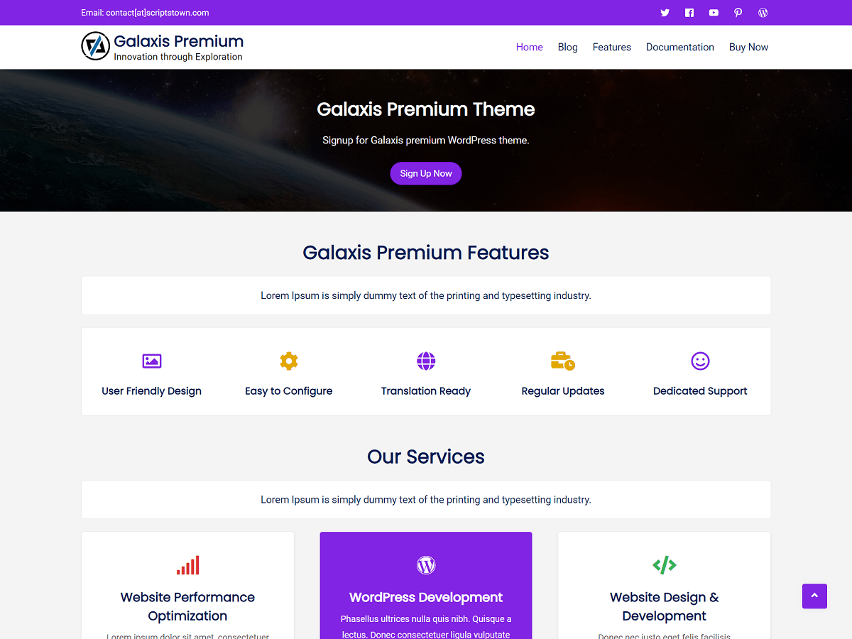 Galaxis Premium - WordPress Theme