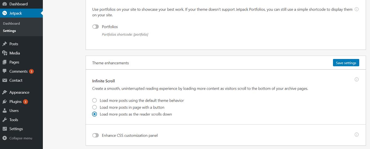 Infinite Scroll - Jetpack WordPress Plugin