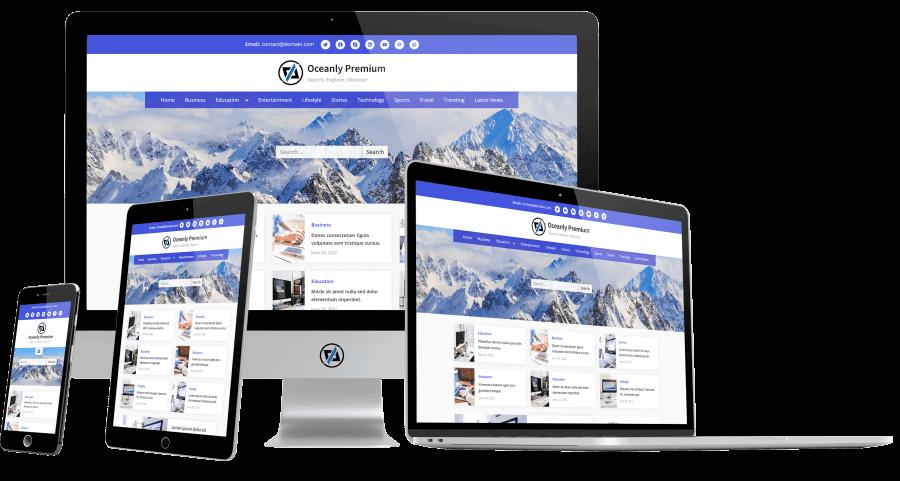 Oceanly Premium - WordPress Theme