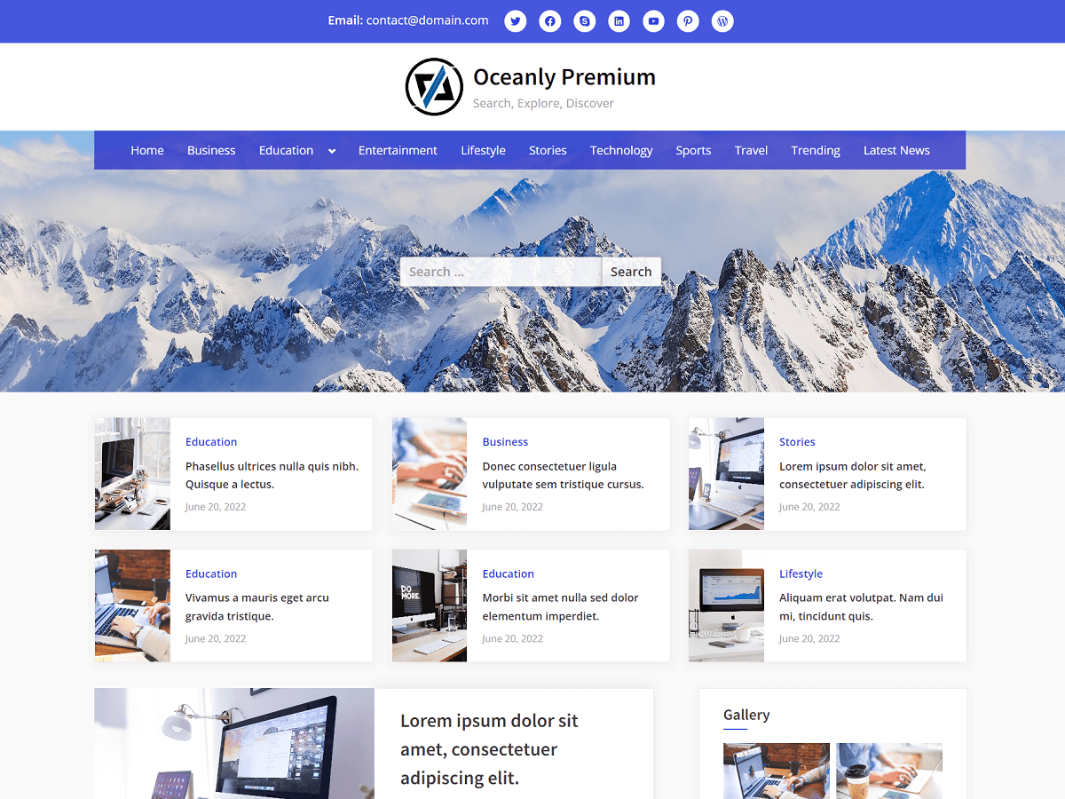 Oceanly Premium - WordPress Theme