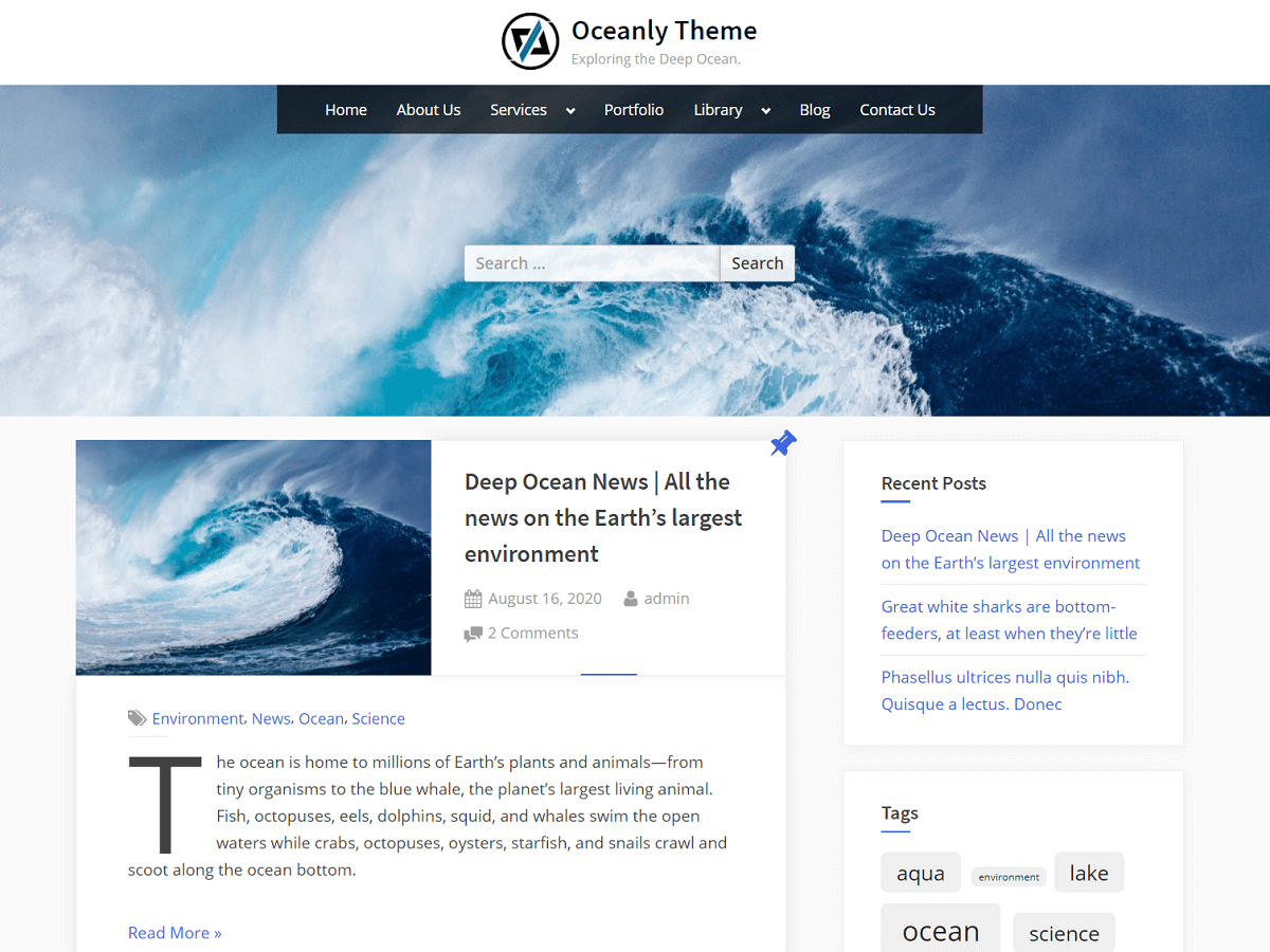 Oceanly - WordPress Theme