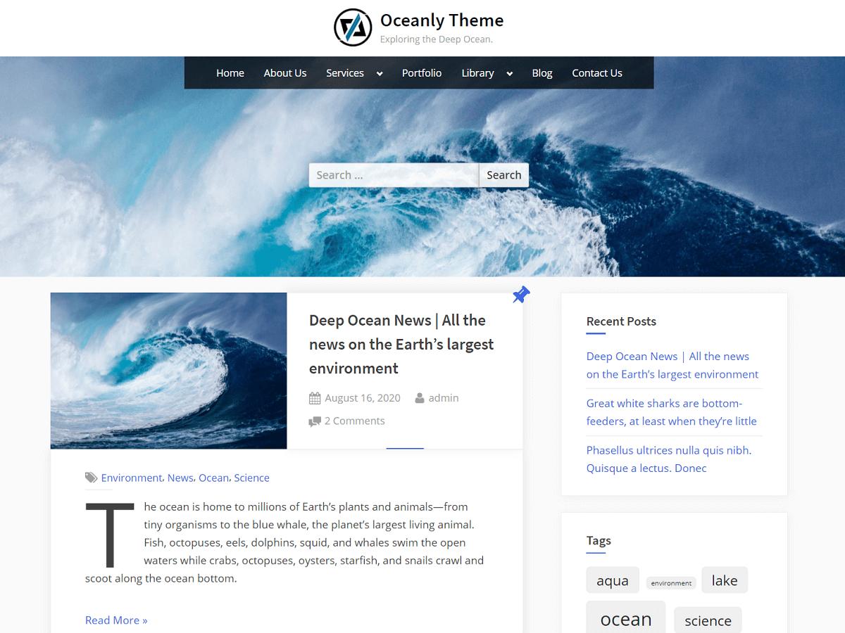 Oceanly - WordPress Theme