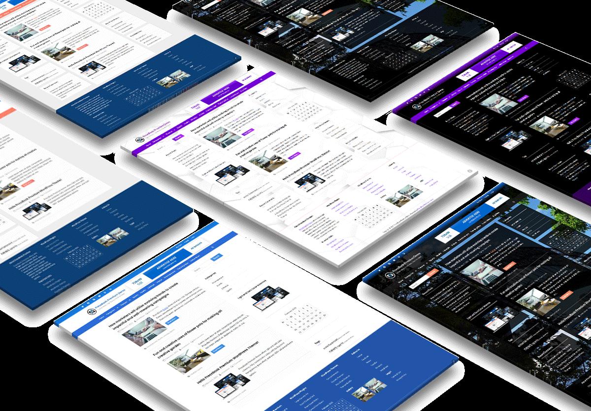 Dark Light Multi-purpose WordPress theme - PressBook Premium