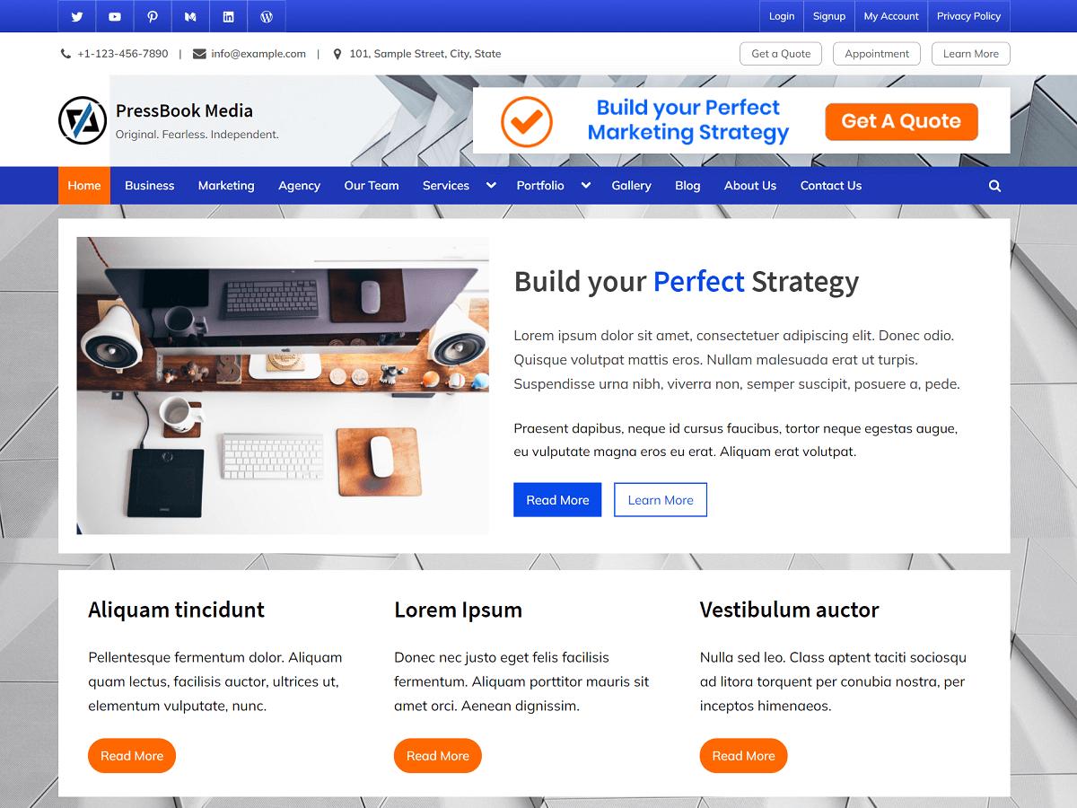 PressBook Media - WordPress Theme